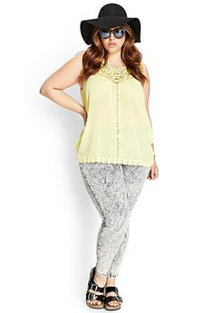 Embroidered Crochet Tank | FOREVER21 PLUS - 2000061847