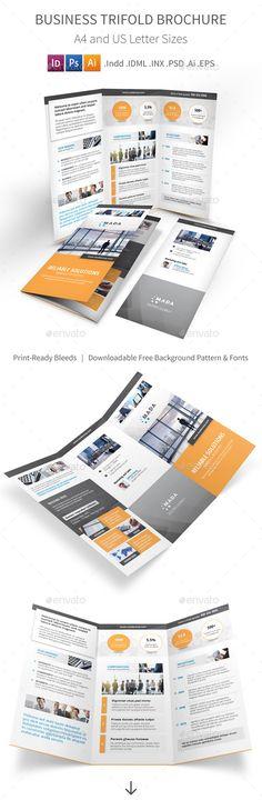 Business Trifold Brochure Template #design Download: http://graphicriver.net/item/business-trifold-brochure/12470571?ref=ksioks