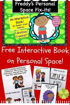 Free interactive book download for working on personal space issues with children!