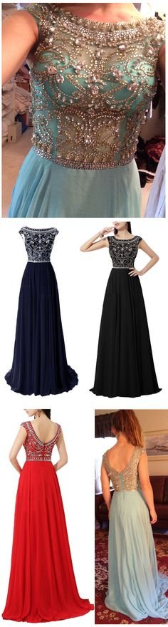 2015 hot sale long chiffon prom dress with floral beading pattern, A-line prom dress, navy blue prom dress, cap sleeve prom dress #prom #evening #party #event