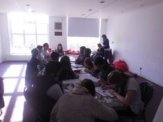 Part of the 2nd day of the PAYP course - participants work on their Arts Awards portfolios Bronze or Silver