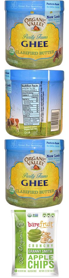 Best Organic Valley Purity Farms, Organic, Ghee, Clarified Butter, 13 oz (368 g), Bare Fruit, Granny Smith Apple Chips, 2.2 oz (63 g)