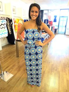 The Buzz Boutique — See Me In Color Maxi Dress In Blue Multi