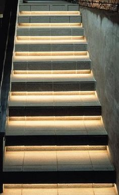 did you know that rope lights can also be used to light the steps on a set of stairs?