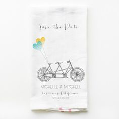 Yes, yes, yes!!! I love these tea towels and I can DIY.  Favors or Save the dates...hmmm..