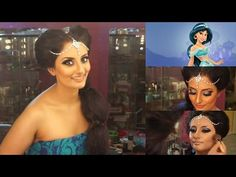 Growing up, I loved the movie Aladdin and I always wanted to be Princess Jasmine for Princess Jasmine Makeup, Disney Princess Jasmine, Beauty Tutorials, Makeup Tutorials, Kerala Wedding Saree, Indian Photoshoot, Easy Makeup Tutorial, Beauty Lounge, She Was Beautiful