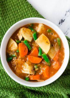 Vegetarian Crockpot Recipes, Vegan Soups, Vegan Dinner Recipes, Vegan Dinners, Veggie Recipes, Whole Food Recipes, Cooking Recipes, Healthy Recipes, Beef Recipes