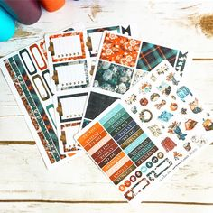 October 2017 The Planner Society Box Stickers