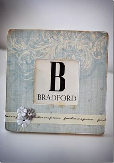 Monogramed frame...This is K & Company paper - have loads!