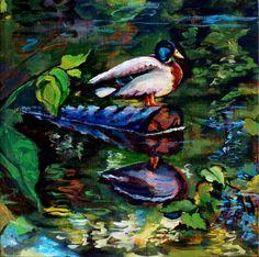 "Acrylic Painting by Lisabelle MALLARD 2 Canvas 10""x10"""