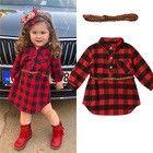 Newborn Toddler Baby Girls Dress Princess Dress Red Plaid Shirt Dress with Belt Pageant Dresses, Girls Dresses, Dress Outfits, Kids Outfits, Girl Sleeves, Girl Silhouette, Baby Girl Princess, Toddler Girl, Baby Girls