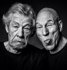 Ian McKellan and Patrick Stewart. Friend photo inspiration for when we get old.