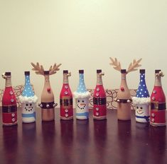 decorate wine bottles for coworkers as giftsbottle painting christmas - Christmas Bottle Decorations