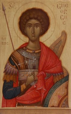 George by Gabriel Toma Chituc Byzantine Icons, Byzantine Art, Religious Icons, Religious Art, Black History Facts, Art History, Art Icon, Saint George, Orthodox Icons