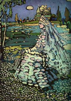 Wassily Kandinsky ~ Russian Beauty in a Landscape, 1905                                                                                                                                                                                 More