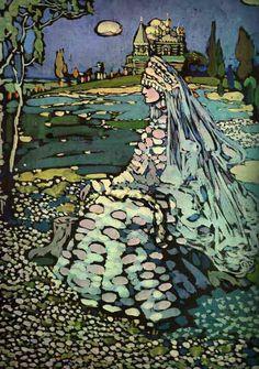 Russian Beauty in a Landscape - Wassily Kandinsky