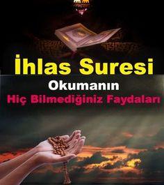 İhlas Suresi, Kur'an'ın 112. suresidir. Mekke'de indirilmiş olan 4 ayetten oluşur. İhlâs Suresi, Kur'an'ın en kısa surelerinden biridir ve tevhid inancının en kısa ve öz ifadesi olarak kabul edilir. #ihlassuresi #dua #ayet #hadis #şifa #cennethalki Allah Islam, Prayers, Food And Drinks, Prayer, Beans, Allah