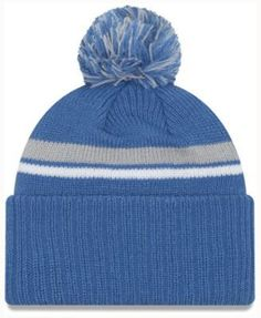 best sneakers d1c81 31bd8 New Era Detroit Lions Diamond Stacker Knit Hat - Blue Adjustable Knit Hat  For Men,