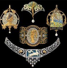 Art Nouveau jewellery by Catalan jeweler Lluis Masriera