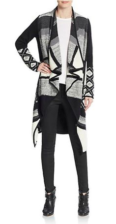Graphic Texture-Blocked Cardigan | Vince | Sweaters | Pinterest ...