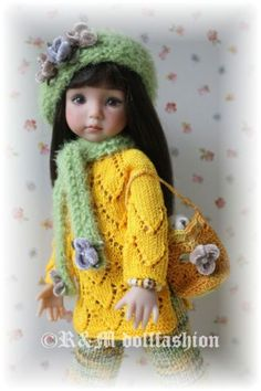 "Hand-knit set by R&M DOLLFASHION-Fall Line for Effner 13"" Iplehouse Kid BJD doll 