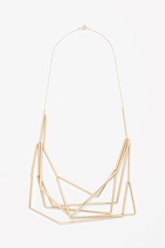 COS Layered metal tube necklace in Gold