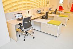 Desking system, Chicago NeoCon 2013 Teknion Showroom