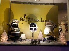 Our beautiful Christmas window display at West Hollywood! How many of you have had the chance to come check out the new one of a kind Moon High Chair in person? Featuring the Mima Moon highchair in white and black, the Kobi stroller in white leather, and the Xari stroller in white leather.