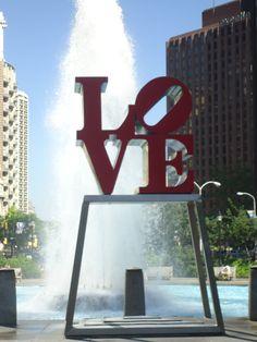 The famous LOVE statue in Philadelphia