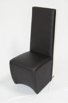 A&X Maud Modern Black Leatherette Dining Chair