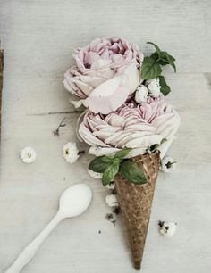 Ice flower cream