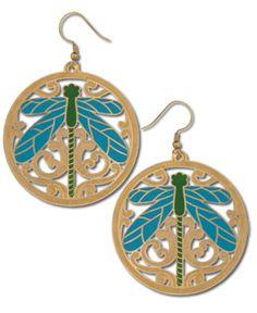 SoulFlower-NEW! Dragonfly Earrings-$18.00  #liviniseasy @Soul Flower