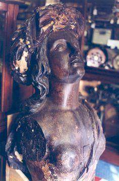 Carved Ship's Figurehead Boudicca