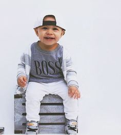 Boss kids tee - Little Beans Clothing. Graphic tees for boys, baby boy swag, unisex tee, hipster kids.
