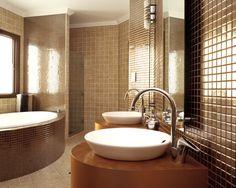 Bathroom Color Trends for 2012 Spread Decor: Brown Bathroom Design Image Wallpapers Brown Bathrooms Designs, Bathroom Designs India, Latest Bathroom Designs, Bathroom Design Luxury, Home Interior Design, Luxury Bathrooms, Interior Ideas, Brown Interior, Bath Design