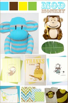monkey theme baby shower 4
