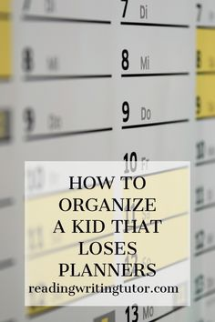 How to Organize a Kid Who Keeps Losing Planners - Beth Sullivan: Reading and Writing Tutor Differentiation In The Classroom, Speech Therapy Autism, Tutoring Business, Reading Tutoring, Calming Activities, Differentiated Instruction, Online Tutoring, Special Education Teacher, Planner Template