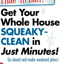 Get you whole house squeaky clean in just minutes!