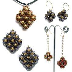 Reversible Beaded Earrings & Pendant | Bead-Patterns.com