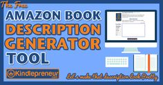 Access this free tool to help you build beautiful amazon book descriptions using simple CSS and WYSIWYG interface. So easy, anyone can do it and its free.