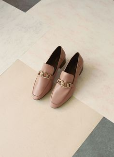 d8427a957616 Chain leather loafers mocasin piel cadena rosado Best Loafers