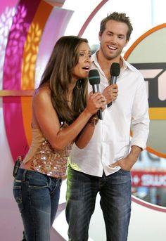 Pin for Later: Avant Blake: 22 Moments Marquants de la Vie de Ryan Reynolds Que Vous Avez Probablement Oublié Ryan et Vanessa Minnillo sur TRL
