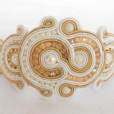 Soutache Bracelet Elegant Soutache Bracelet, Soutache Jewelry, Gold Rings, Rose Gold, Brooch, Jewels, Beads, Elegant, Bracelets