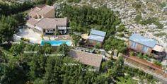 Vue aérienne de la Propriété avec Chambres d'hôtes et gîtes à vendre à Narbonne dans l'Aude