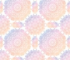 Vintage delicate pattern custom fabric by juliabadeeva for sale on Spoonflower