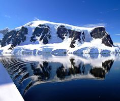 The sky is blue, the water is like glass … Perfection. #Antarctica