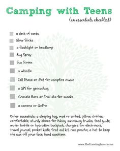 Great list of what teens would bring on a camping trip made by teens -- notice that 'clothes' aren't even listed but glo sticks are still there!     #KmartSummerFun #ad #sponsored