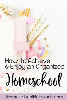 How to Achieve and Enjoy an Organized Homeschool Printing Supplies, Craft Supplies, Planner Pages, Weekly Planner, Book Organization, Group Activities, Home Schooling, Homeschool, How To Plan