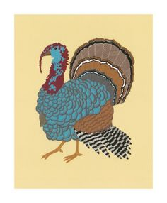 'Turkey' screenprint Greeting Card by Alice Melvin