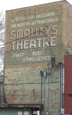 Ghost Sign for Smalley's Theatre (Cooperstown, New York)